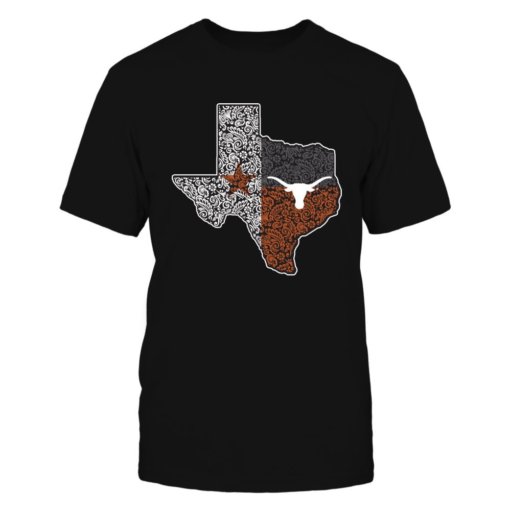 Texas Longhorns - Floral Texas Map Flag Front picture