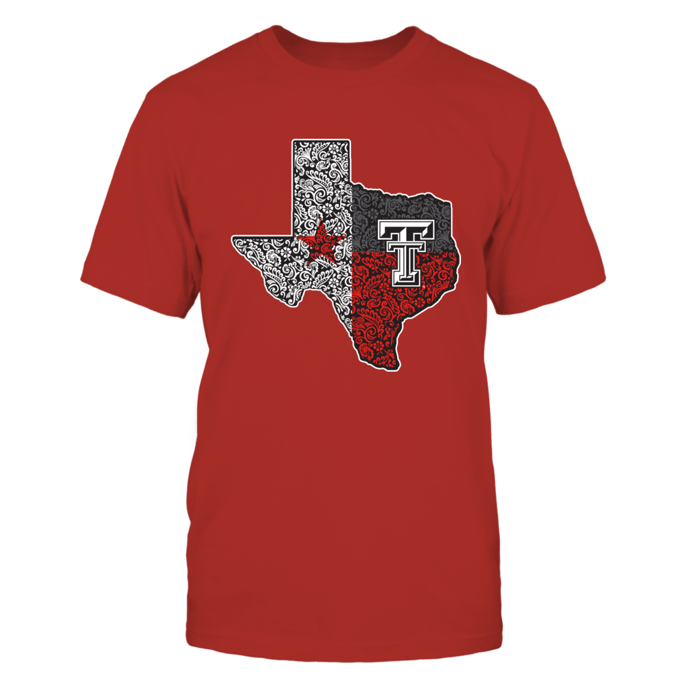 Texas Tech Red Raiders - Floral Texas Map Flag - IF-IC13-DS33 Front picture