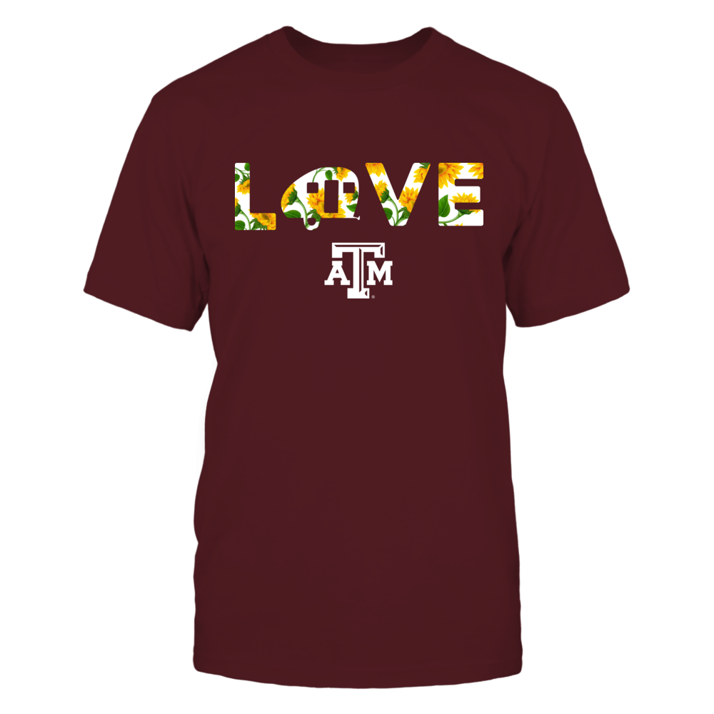 Texas A&M Aggies - Camping - Love Sunflower Pattern Front picture