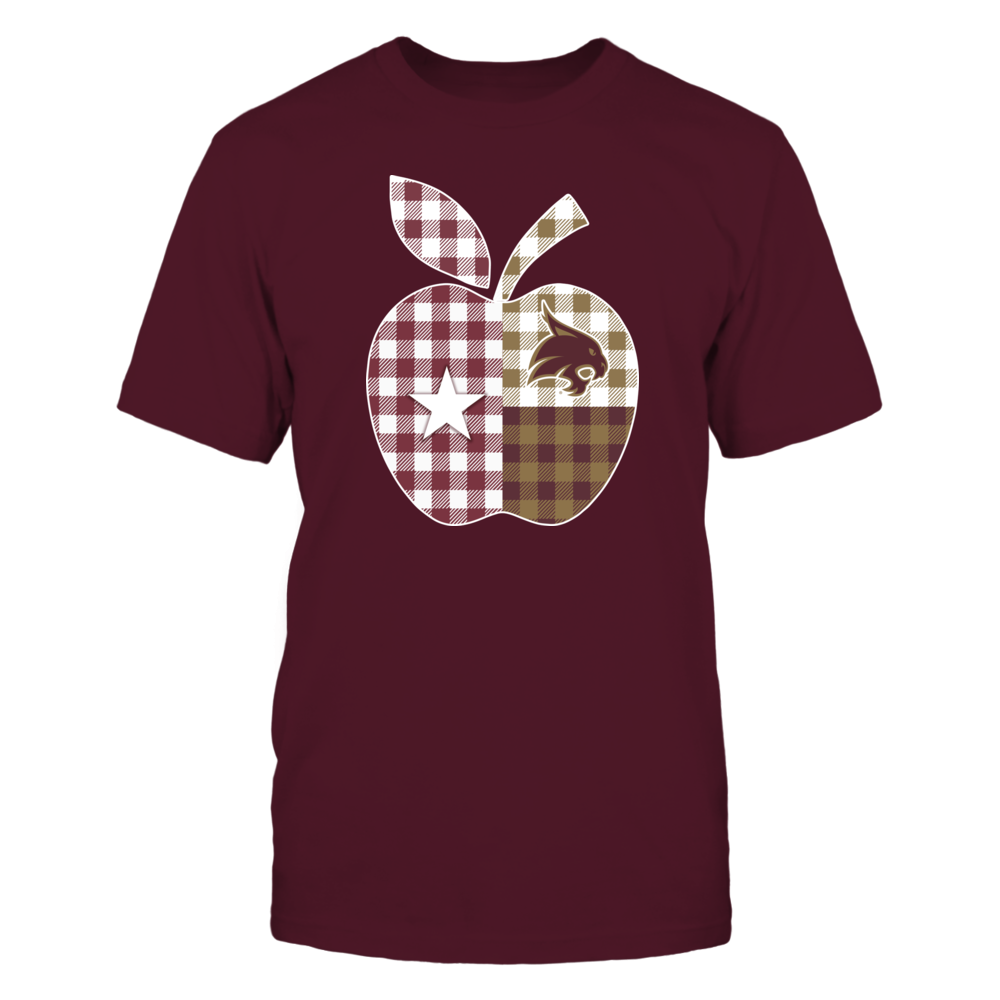 Texas State Bobcats - Teacher - Texas Apple Checkered Patterned - IF-IC32-DS75 Front picture