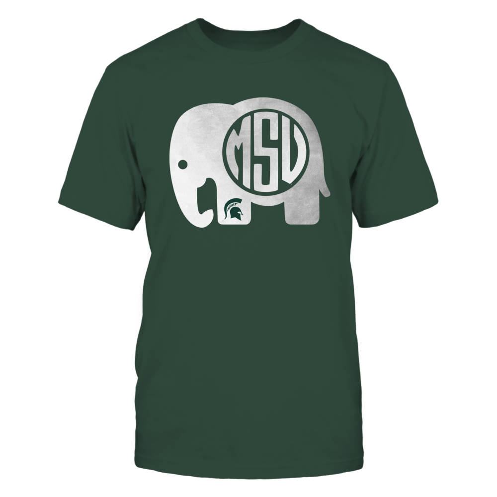 Michigan State Spartans - Elephant - Elephant Monogram Front picture