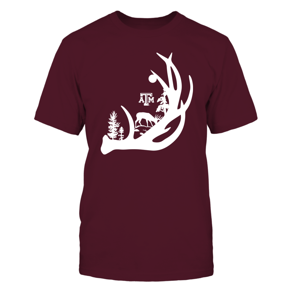 Texas A&M Aggies - Hunting - Deer In The Woods Antler Front picture