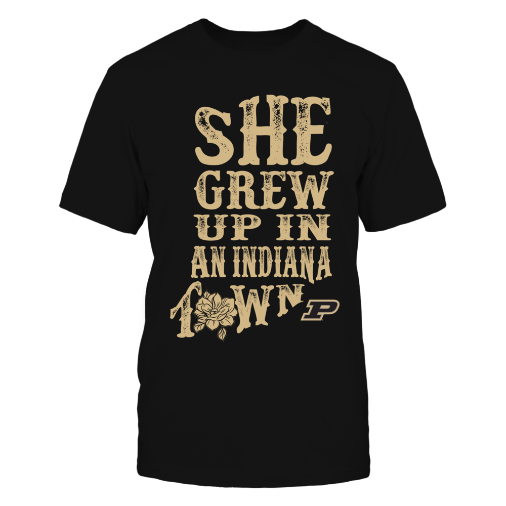 Purdue Boilermakers - She Grew Up In An Indiana Town Inside State Map Front picture