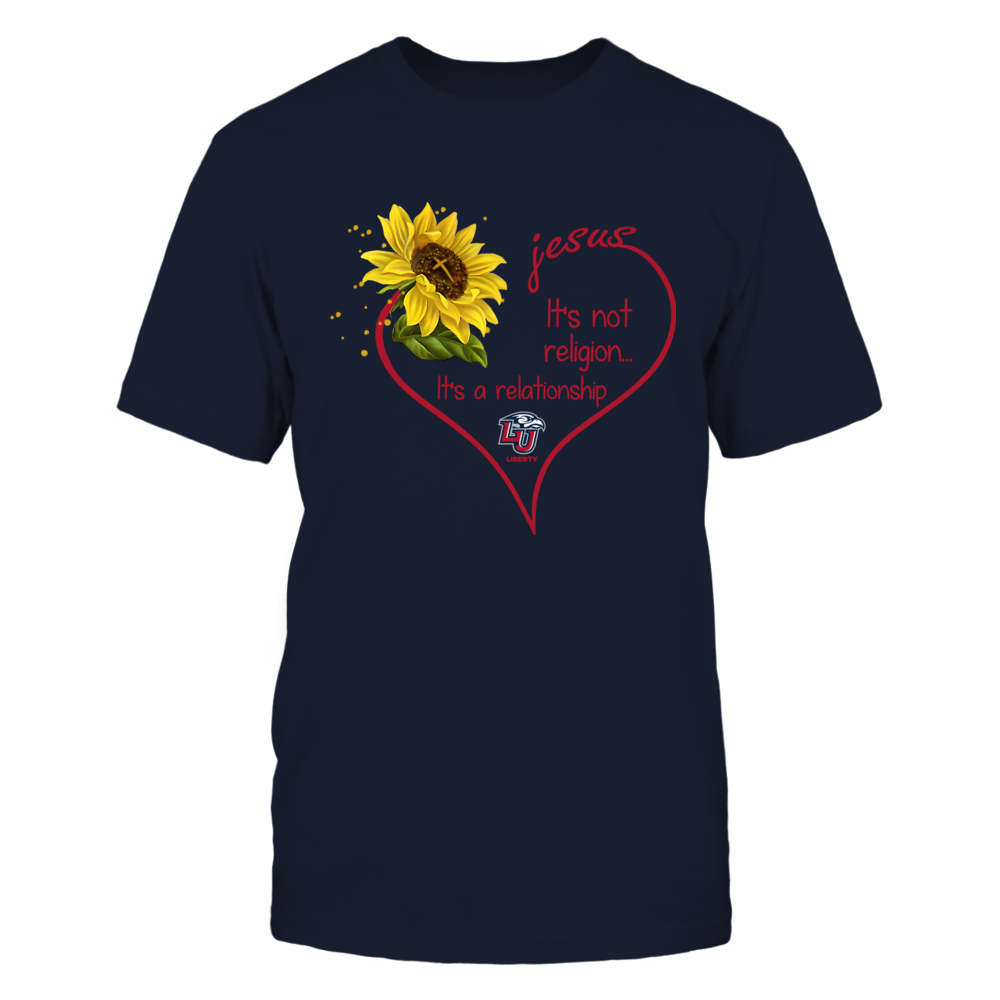 Liberty Flames - Jesus It's Not Religion Sunflower Front picture