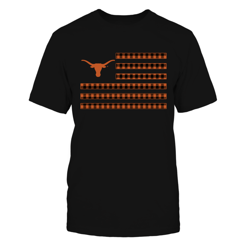 Texas Longhorns - Checkered Pattern Nation Flag Front picture