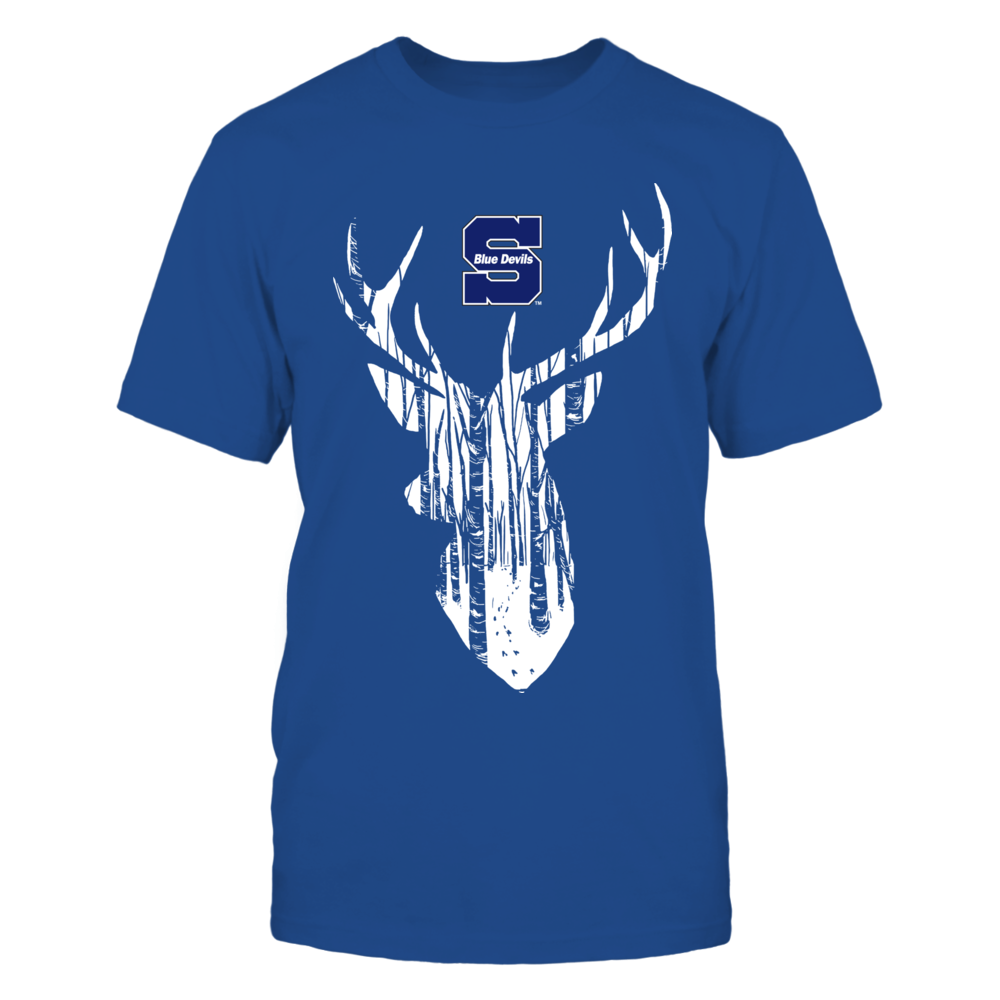 Wisconsin Stout Blue Devils - Hunter Forest Deer Front picture