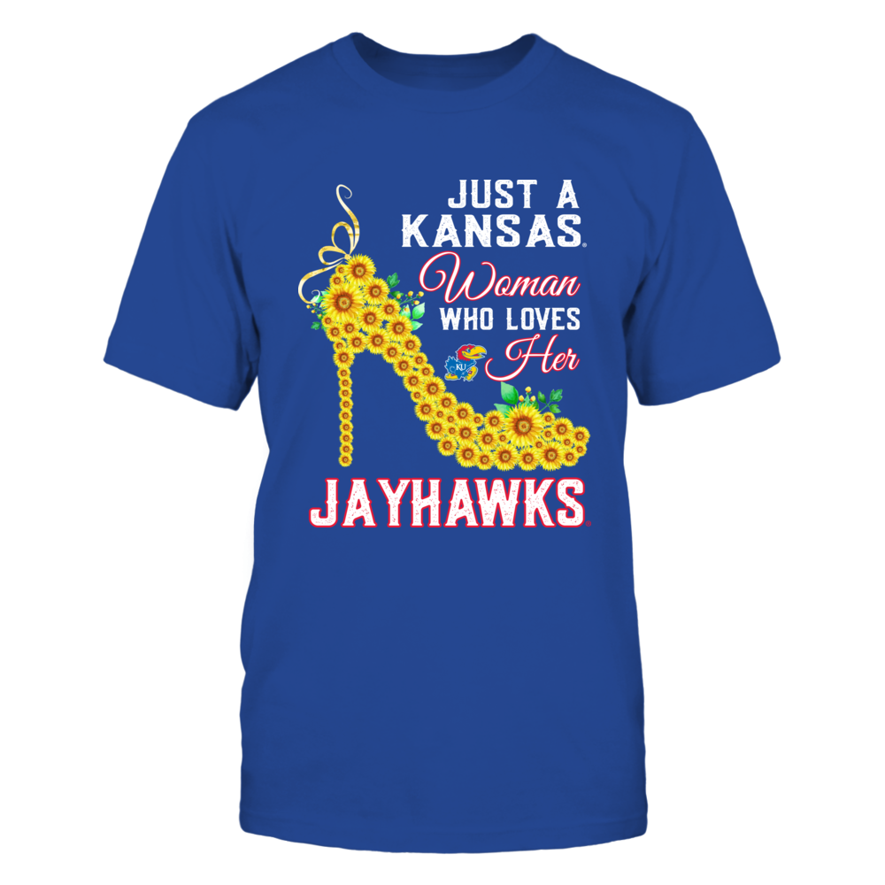 Kansas Jayhawks - Just A Woman Who Loves Her Team - Sunflower Heel Front picture