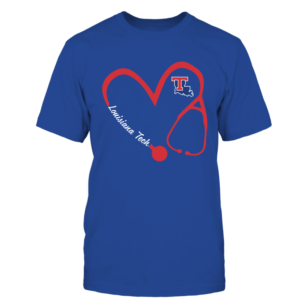 Louisiana Tech Bulldogs - Heart 3/4 - Nurse Front picture