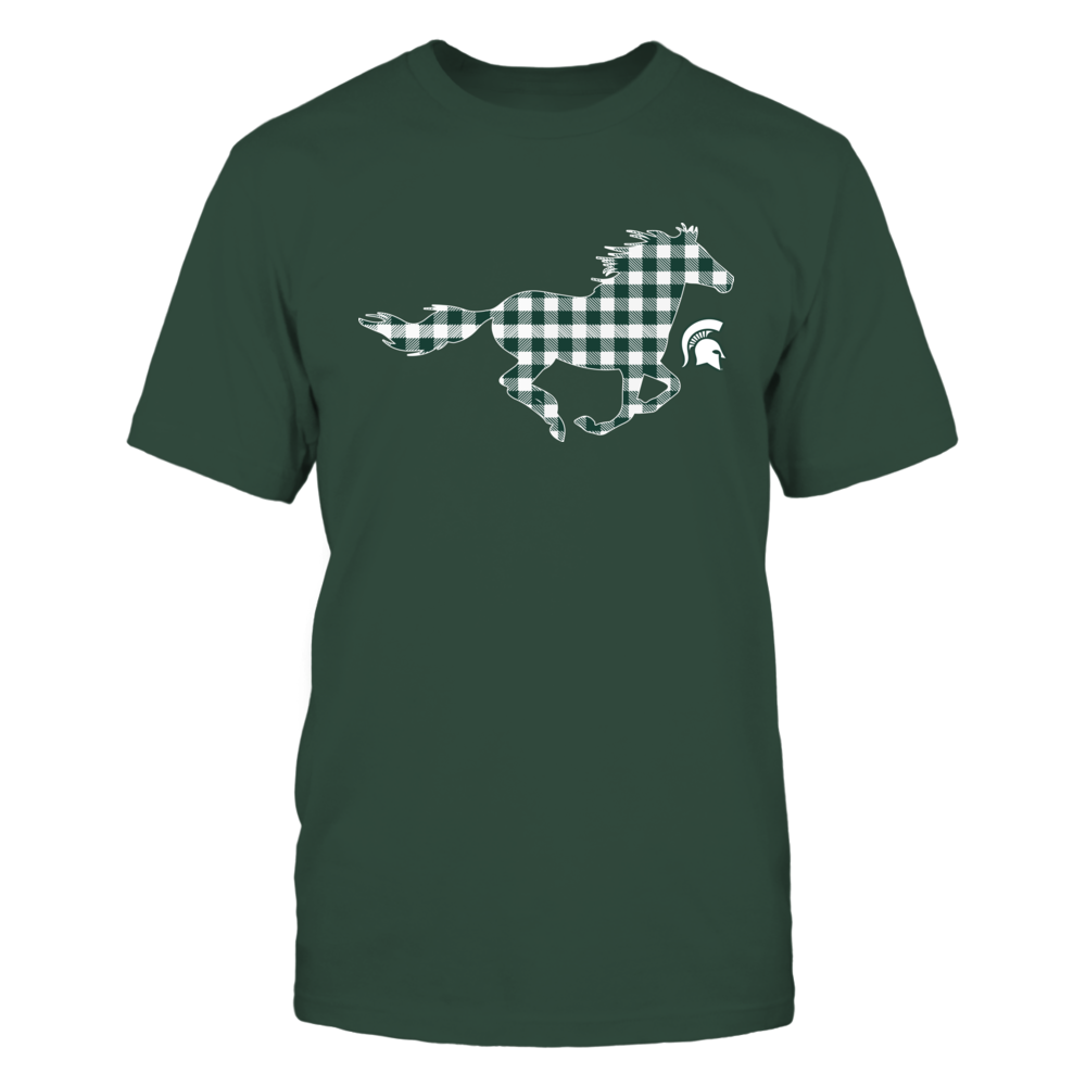 Michigan State Spartans - Checkered Horse Front picture