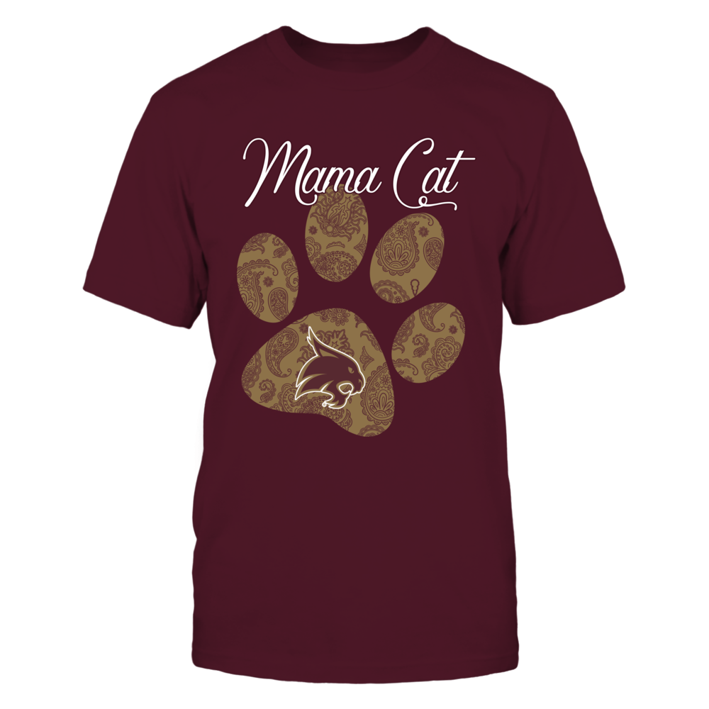 Texas State Bobcats - Paisley Paw - Mama Cat Front picture