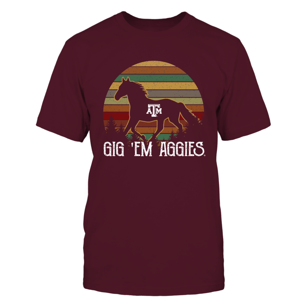 Texas A&M Aggies - Horse - Retro Style Front picture