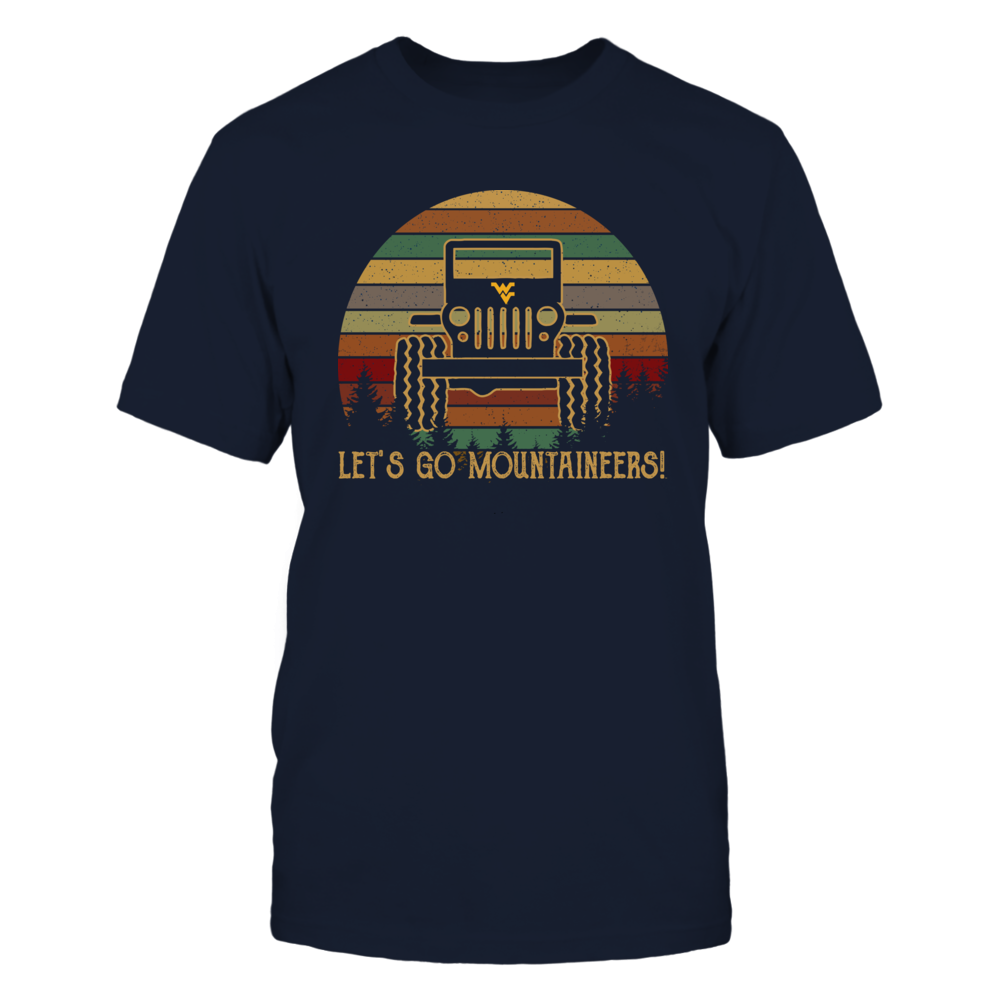 West Virginia Mountaineers - Jeep - Retro Style Front picture