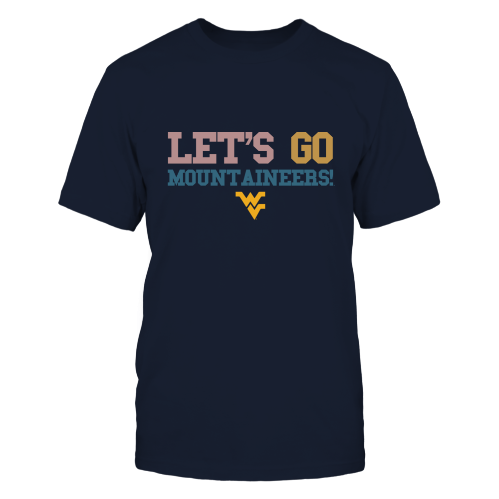 West Virginia Mountaineers - Team Slogan - Retro Style Front picture