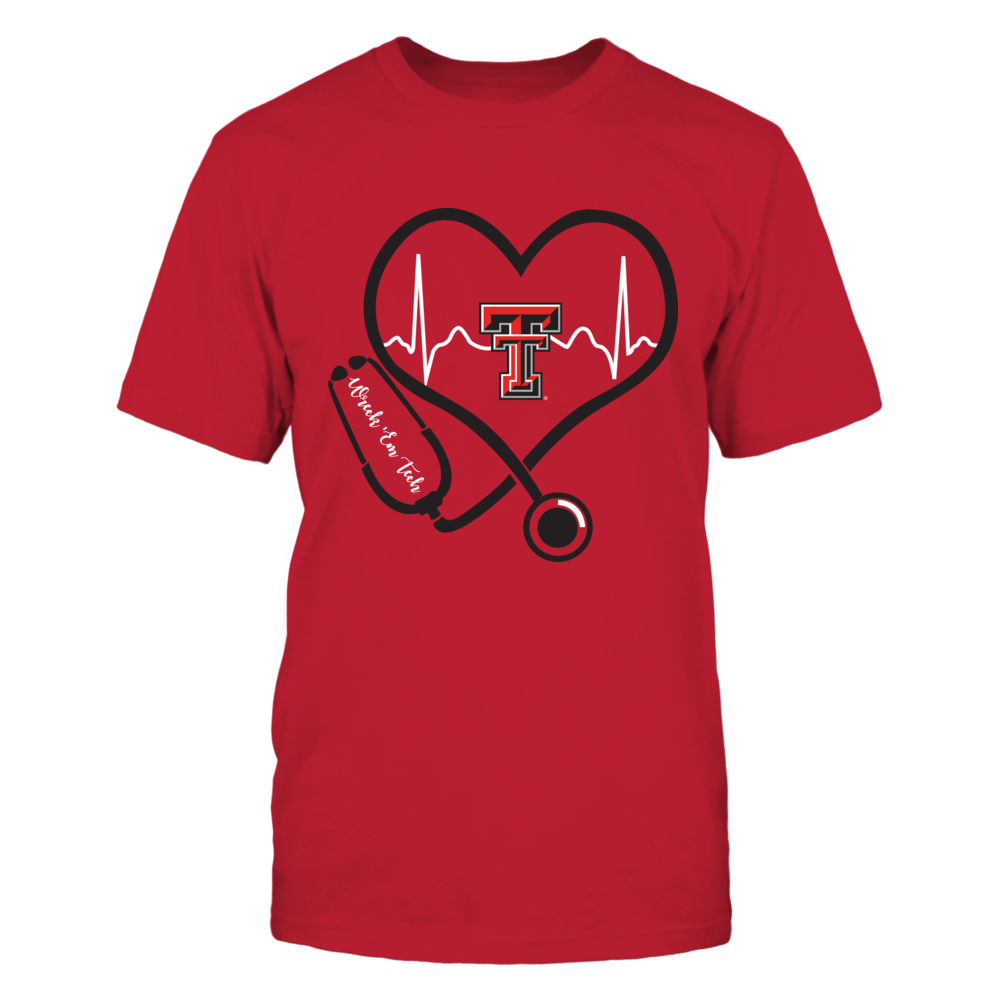 Texas Tech Red Raiders - Nurse - Heart Stethoscope Heartbeat Front picture