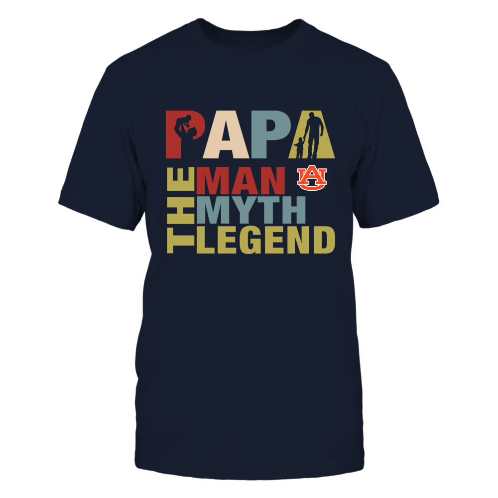 Auburn Tigers - Papa The Legend - New Retro Style Front picture