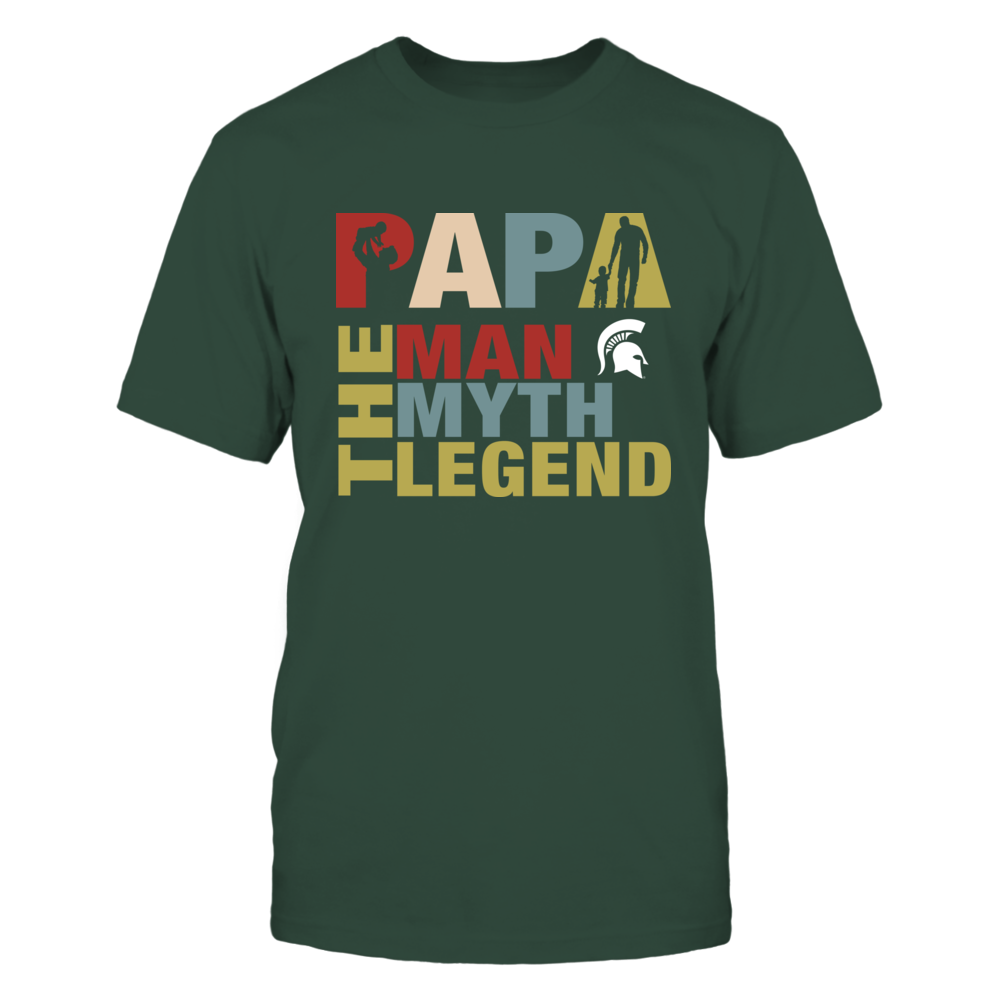 Michigan State Spartans - Papa The Legend - New Retro Style Front picture