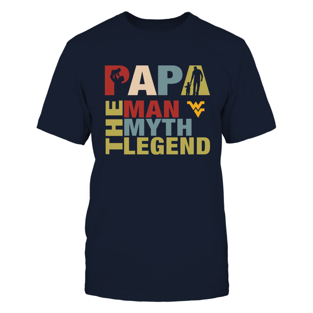West Virginia Mountaineers - Papa The Legend - New Retro Style Front picture