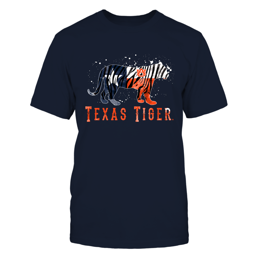 Auburn Tigers - Mascot State Flag Color Drop Tiger - Texas Front picture