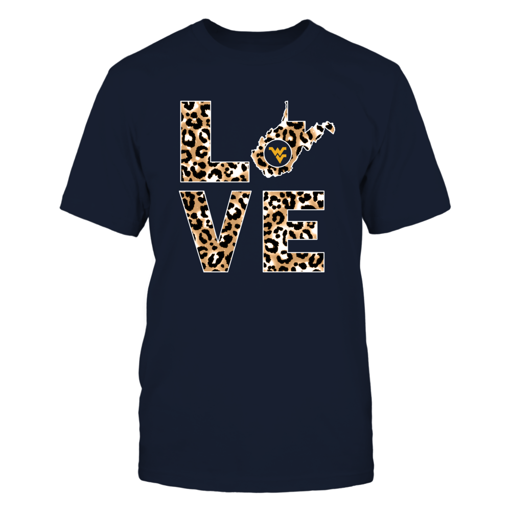 West Virginia Mountaineers - Stacked Love - Leopard Pattern Front picture