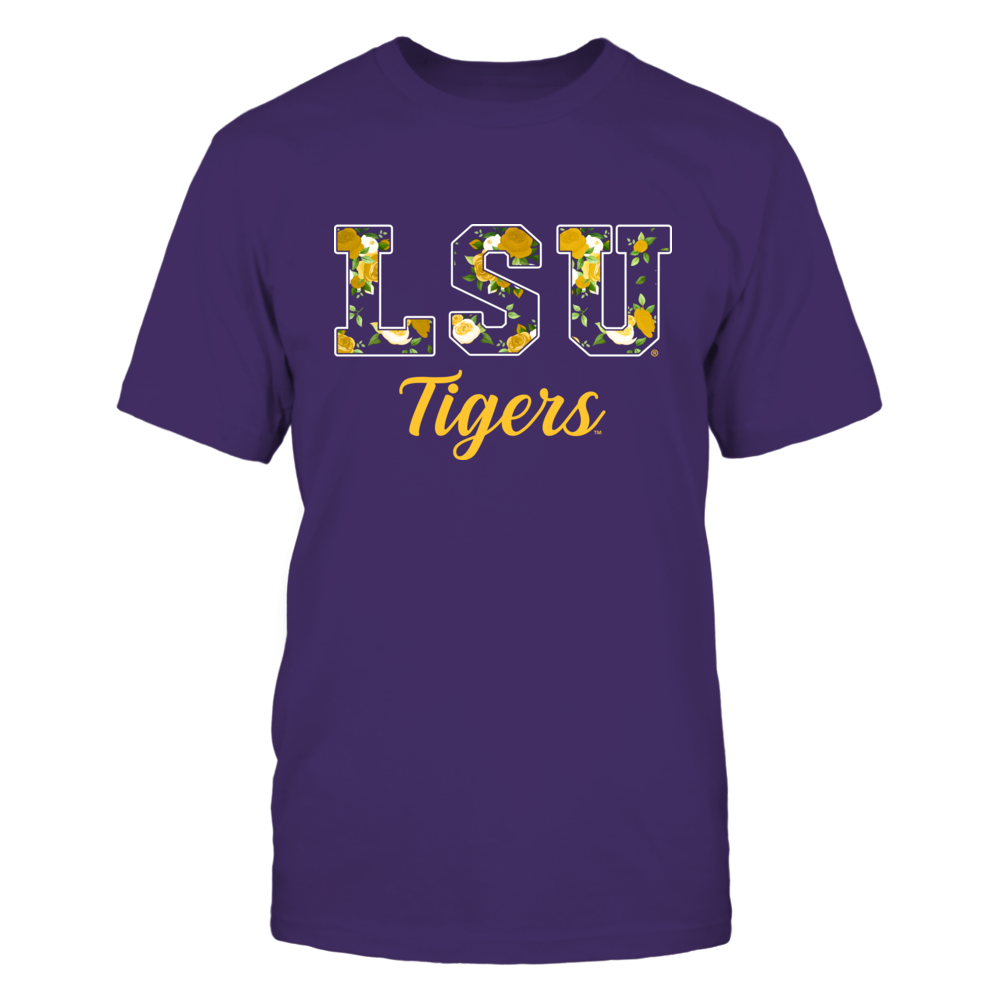 LSU Tigers - Rose Patterned Letters Front picture