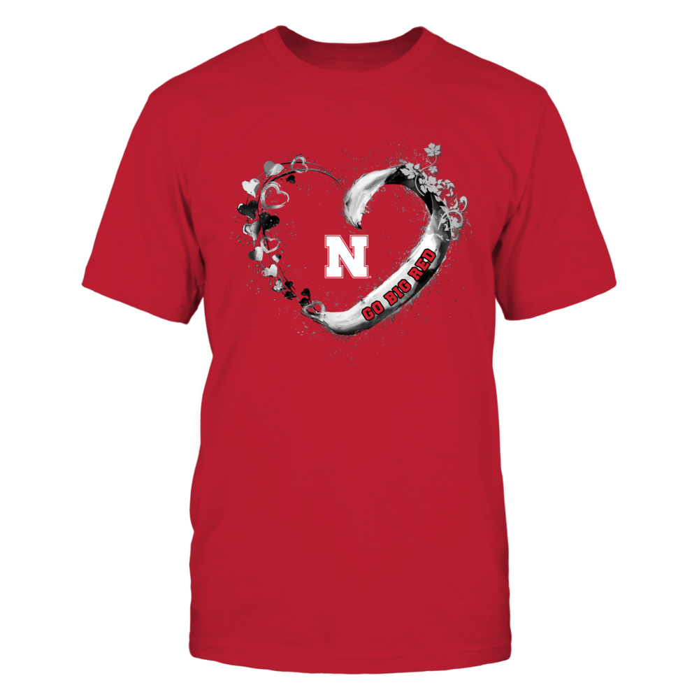 Nebraska Cornhuskers - Beautiful heart - Red Shirt Front picture