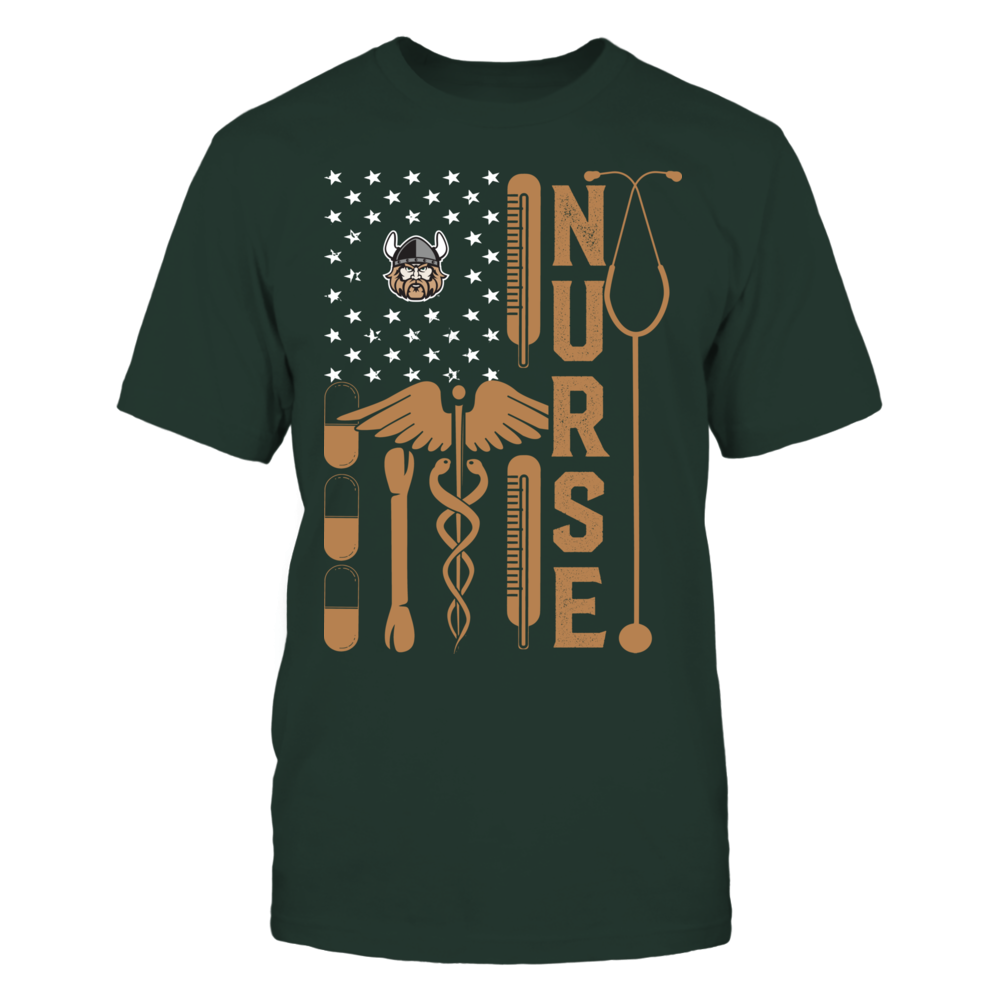 Cleveland State Vikings - Flag Shirt - Nurse Front picture