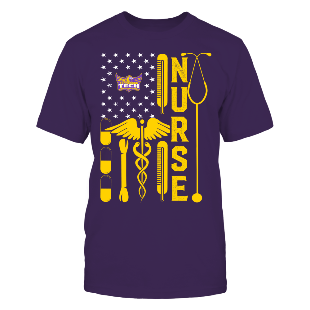 Tennessee Tech Golden Eagles - Flag Shirt - Nurse Front picture