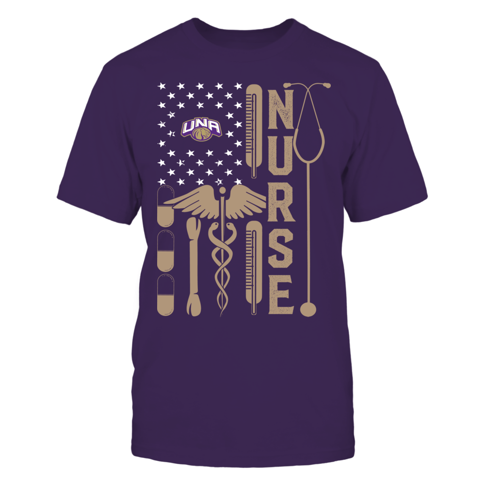 North Alabama Lions - Flag Shirt - Nurse Front picture