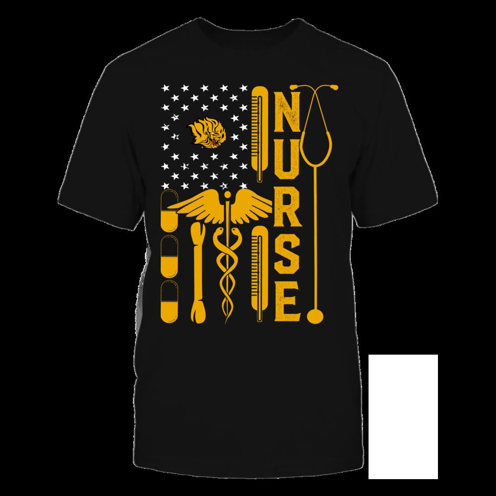 Arkansas Pine Bluff Golden Lions - Flag Shirt - Nurse Front picture