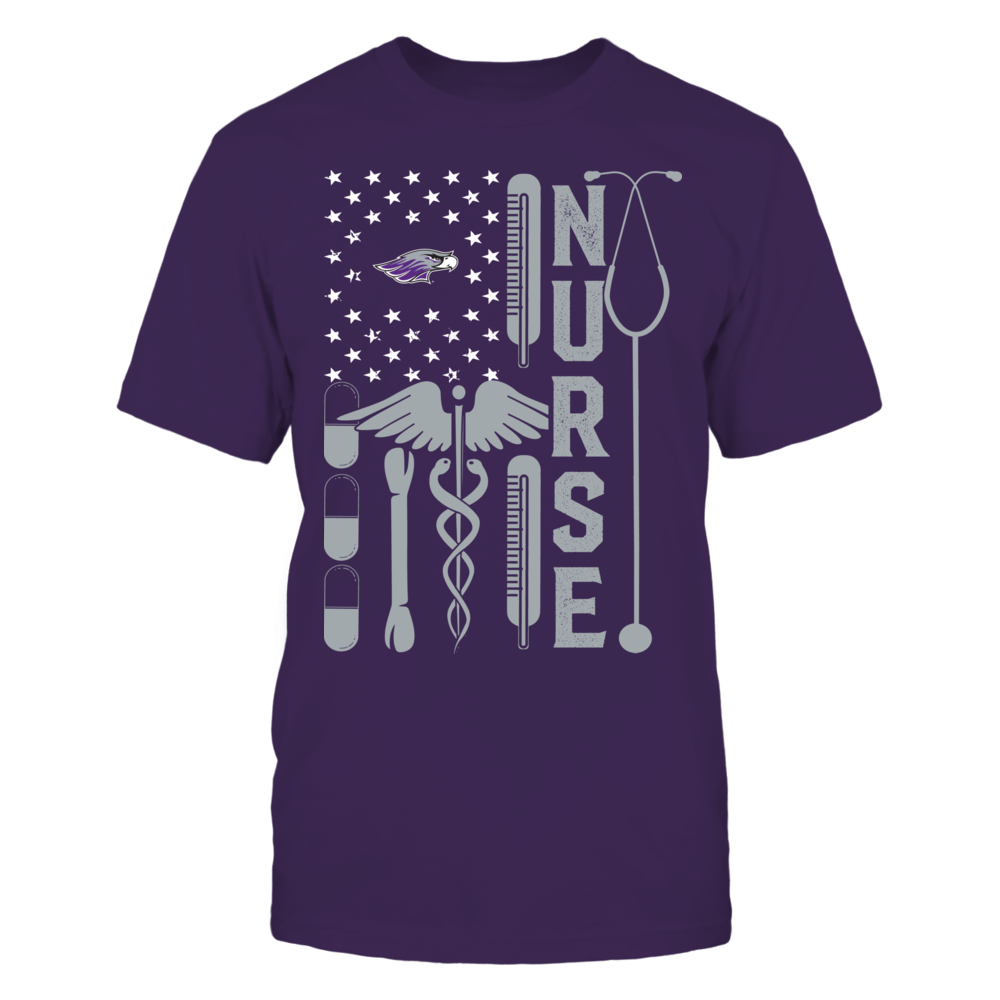 Wisconsin-Whitewater Warhawks - Flag Shirt - Nurse Front picture