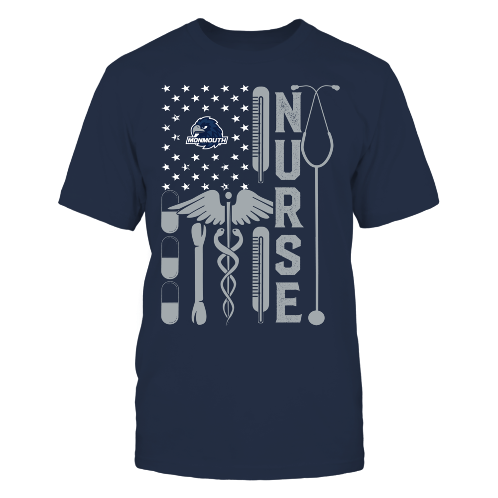 Monmouth Hawks - Flag Shirt - Nurse Front picture