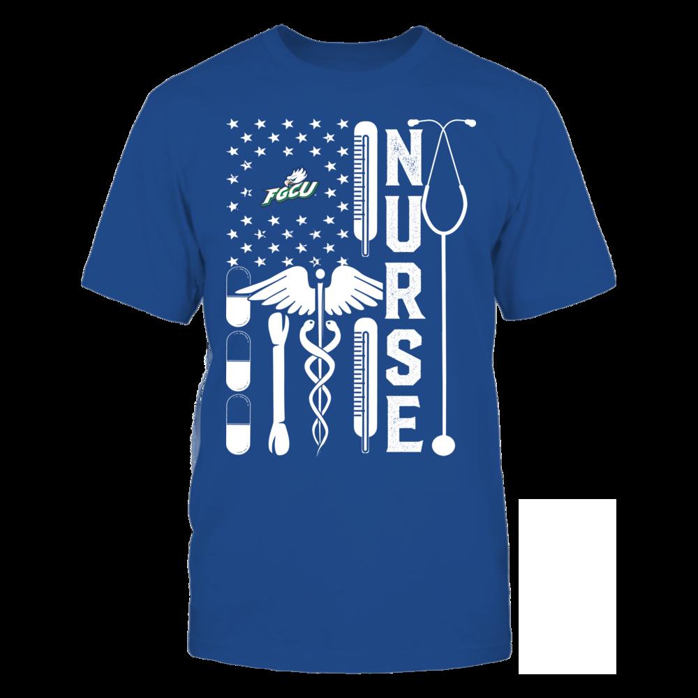 Florida Gulf Coast Eagles - Flag Shirt - Nurse Front picture