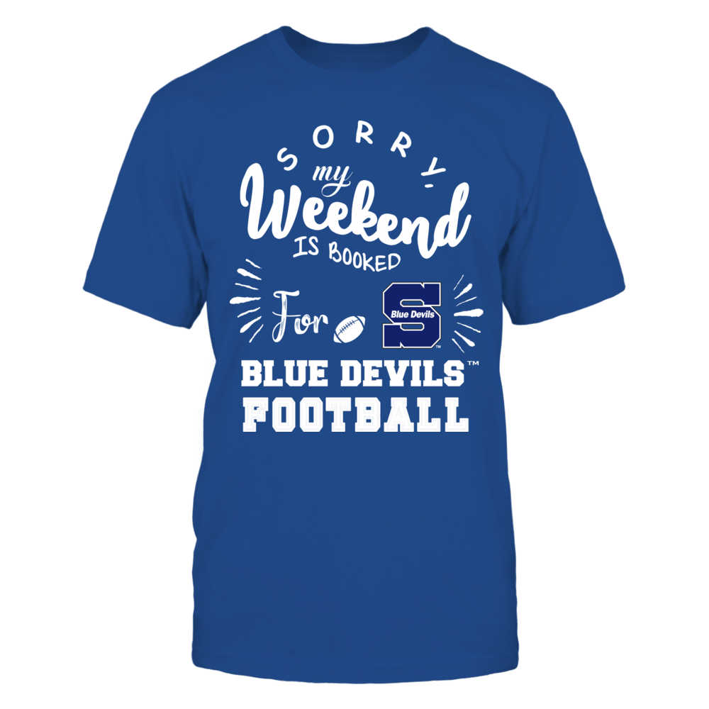 Wisconsin Stout Blue Devils - Sorry My Weekend is Booked Front picture