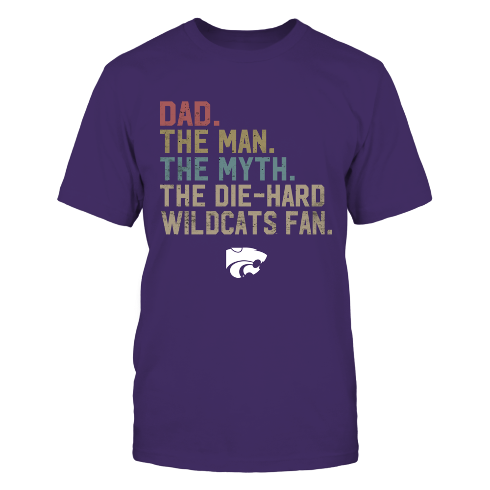 Kansas State Wildcats - The Man - Myth - Legend - Retro Style - Dad Front picture
