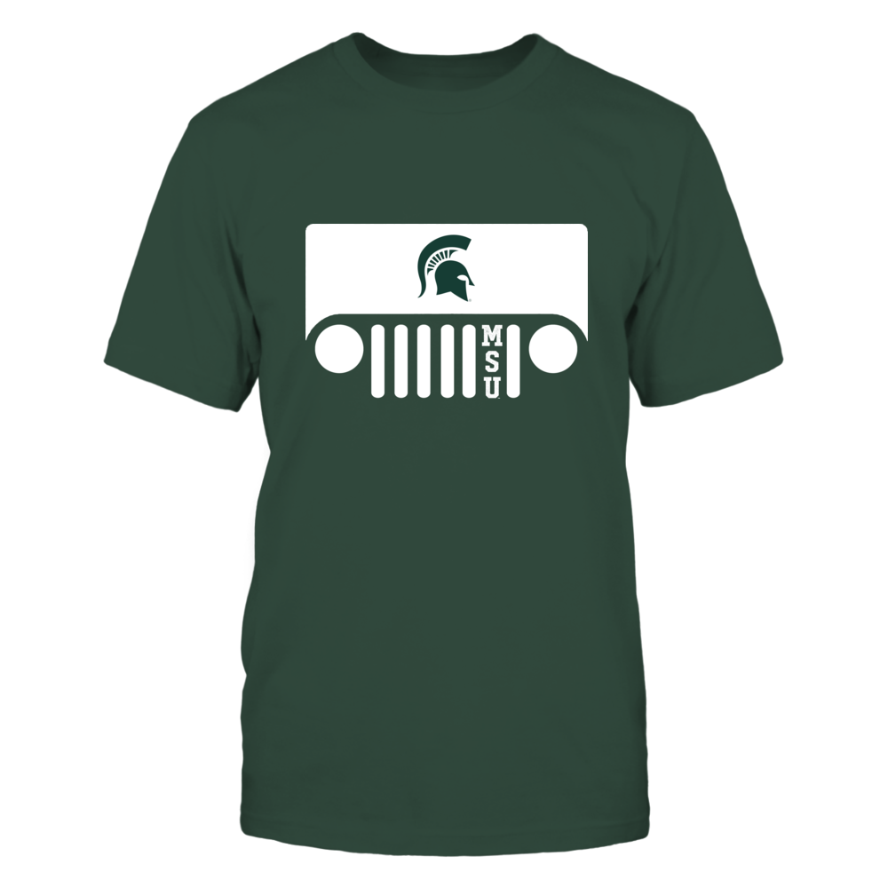 Michigan State Spartans - Jeep - Jeep Logo - Team Quote Front picture