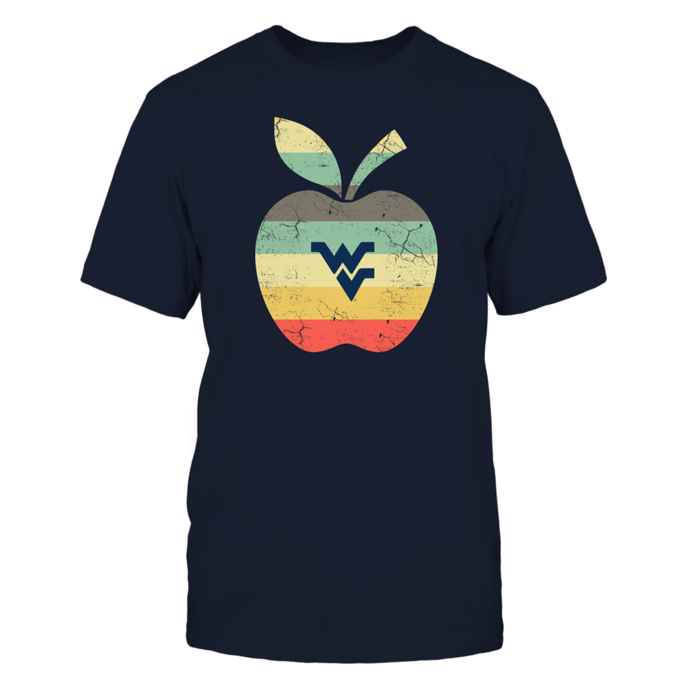 West Virginia Mountaineerss - Teacher - Apple Vintage Graphic Front picture