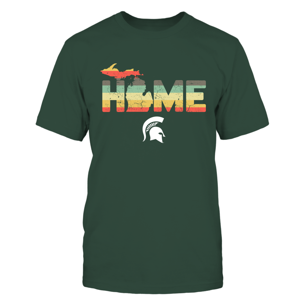 Michigan State Spartans - Home State Map - Vintage Graphic Front picture
