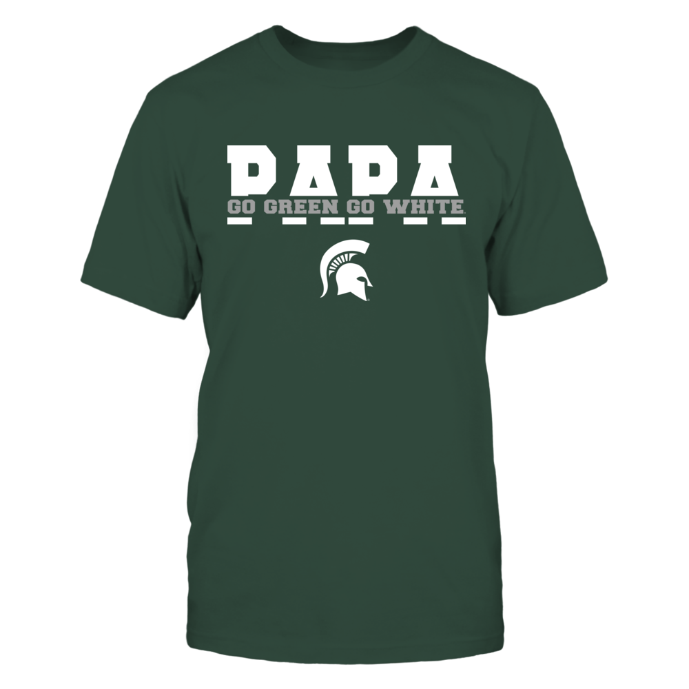 Michigan State Spartans - Papa Slogan Cut Through Front picture
