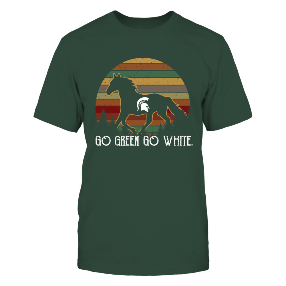 Michigan State Spartans - Horse - Retro Style Front picture