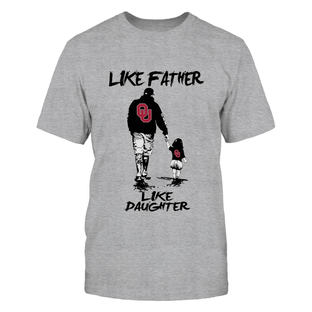 Oklahoma Sooners - Like Father Like Daughter - Grey Shirt Front picture