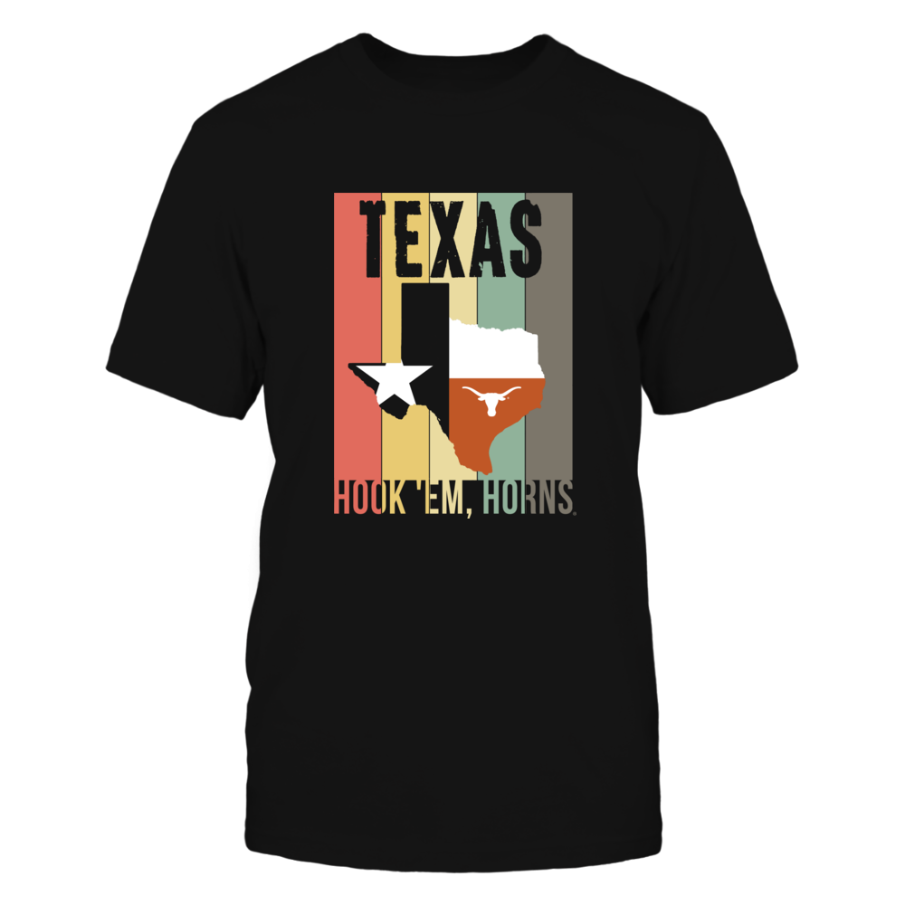Texas Longhorns - Texas Retro Vintage Art Design Front picture