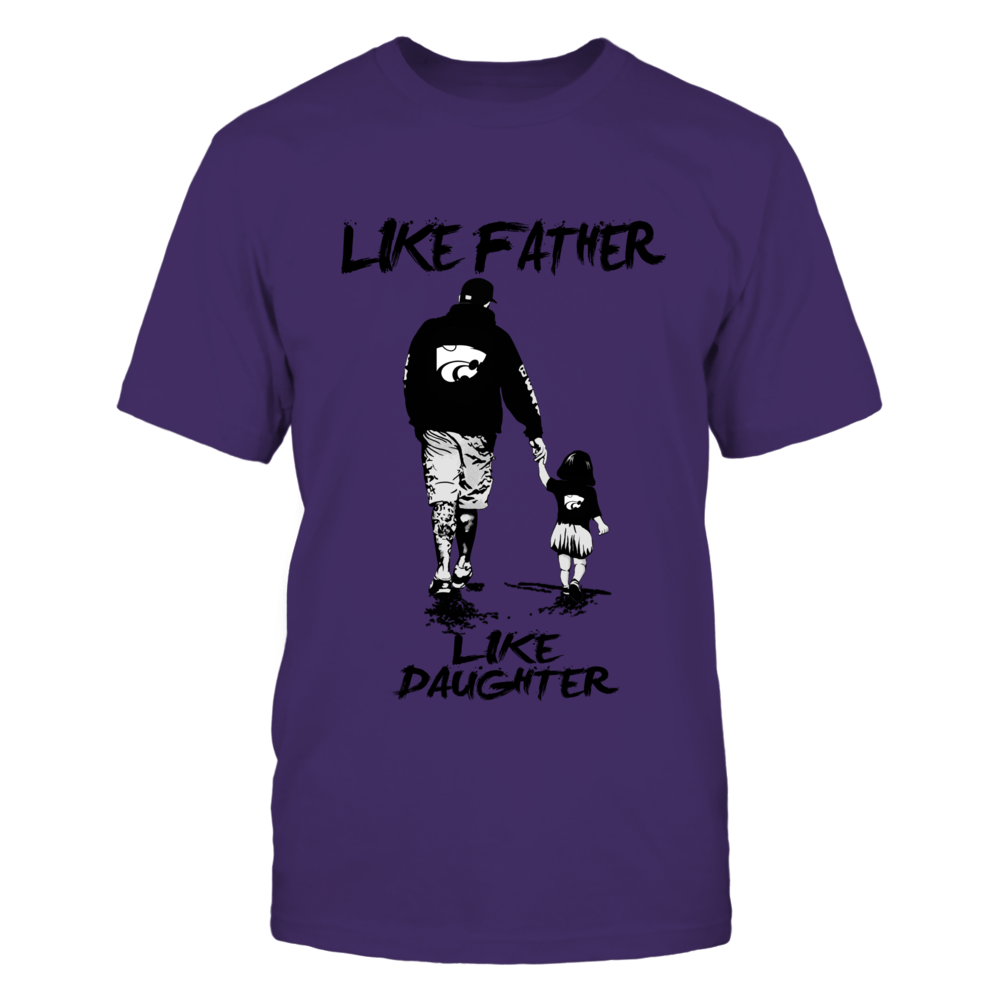 Kansas State Wildcats - Like Father Like Daughter - Grey Shirt Front picture