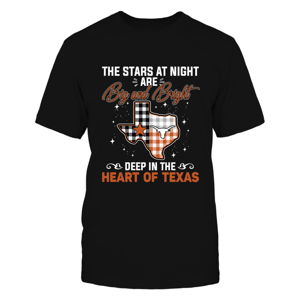 Texas Longhorns - The Star At Night - Checkered Pattern Front picture