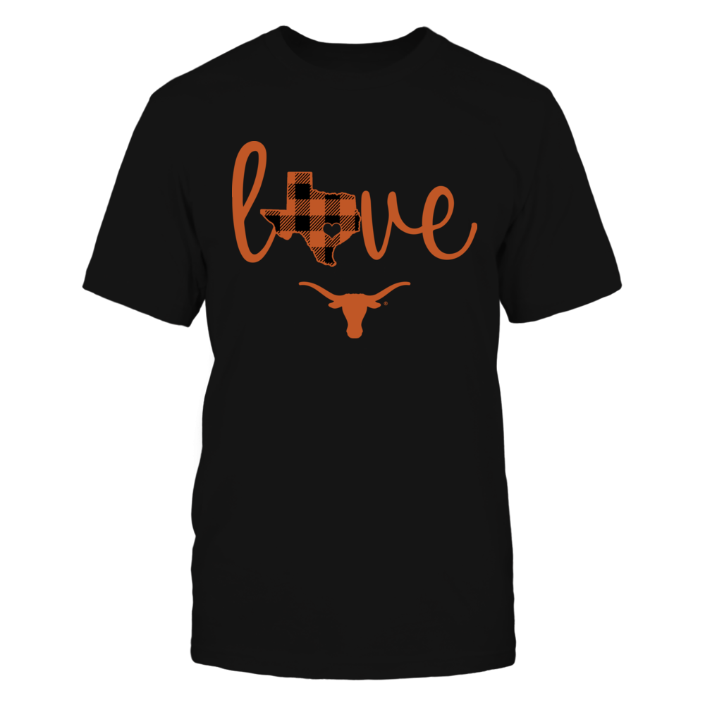 Texas Longhorns - State Love - Checkered Pattern Front picture