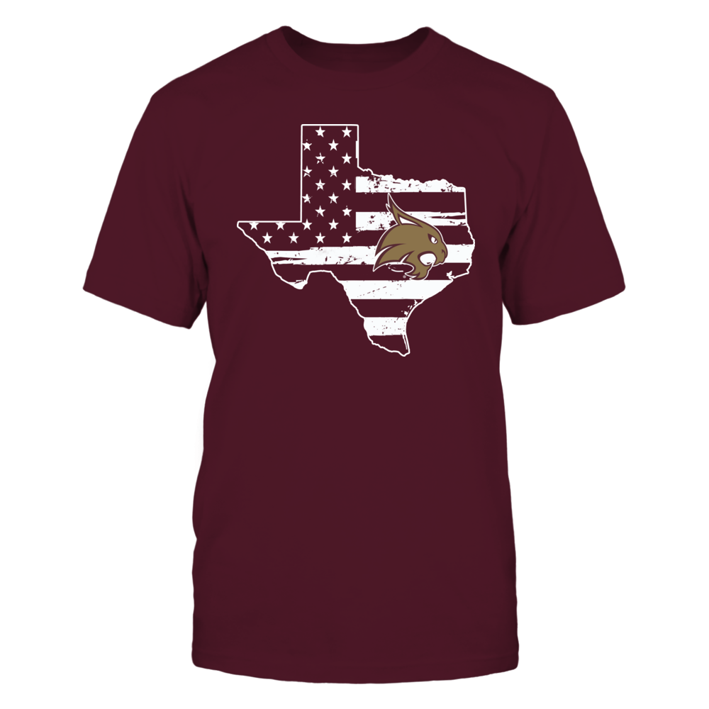 Texas State Bobcats - Logo State - Nation Flag Front picture