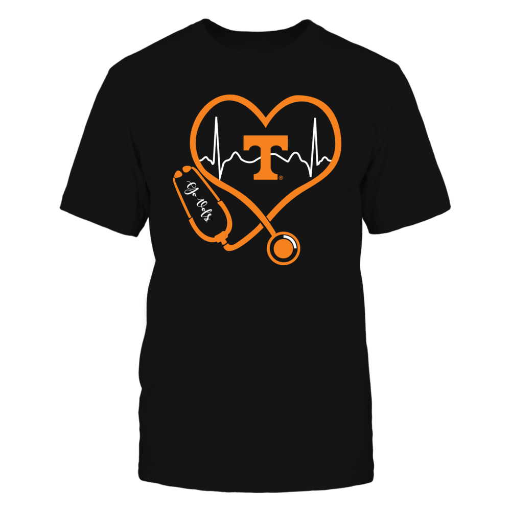 Tennessee Volunteers - Nurse - Heart Stethoscope Heartbeat Front picture