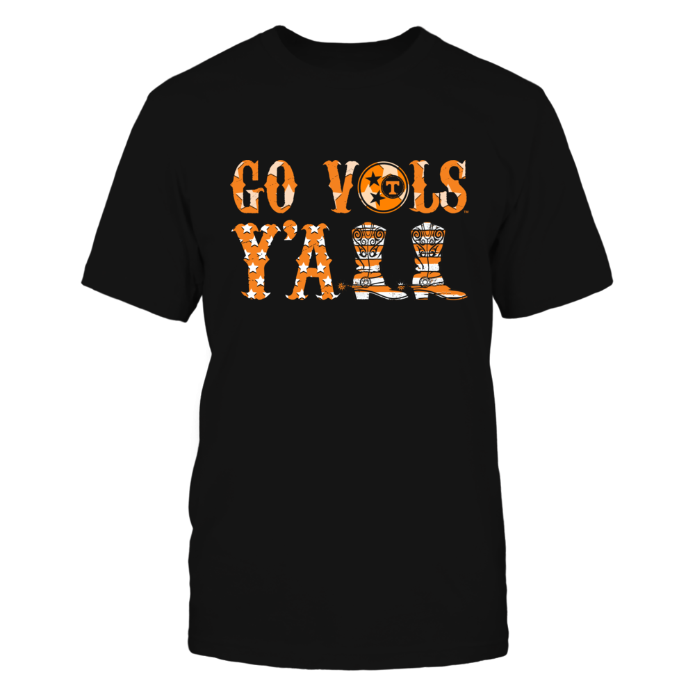 Tennessee Volunteers - Y'all Boots - Nation Flag Front picture