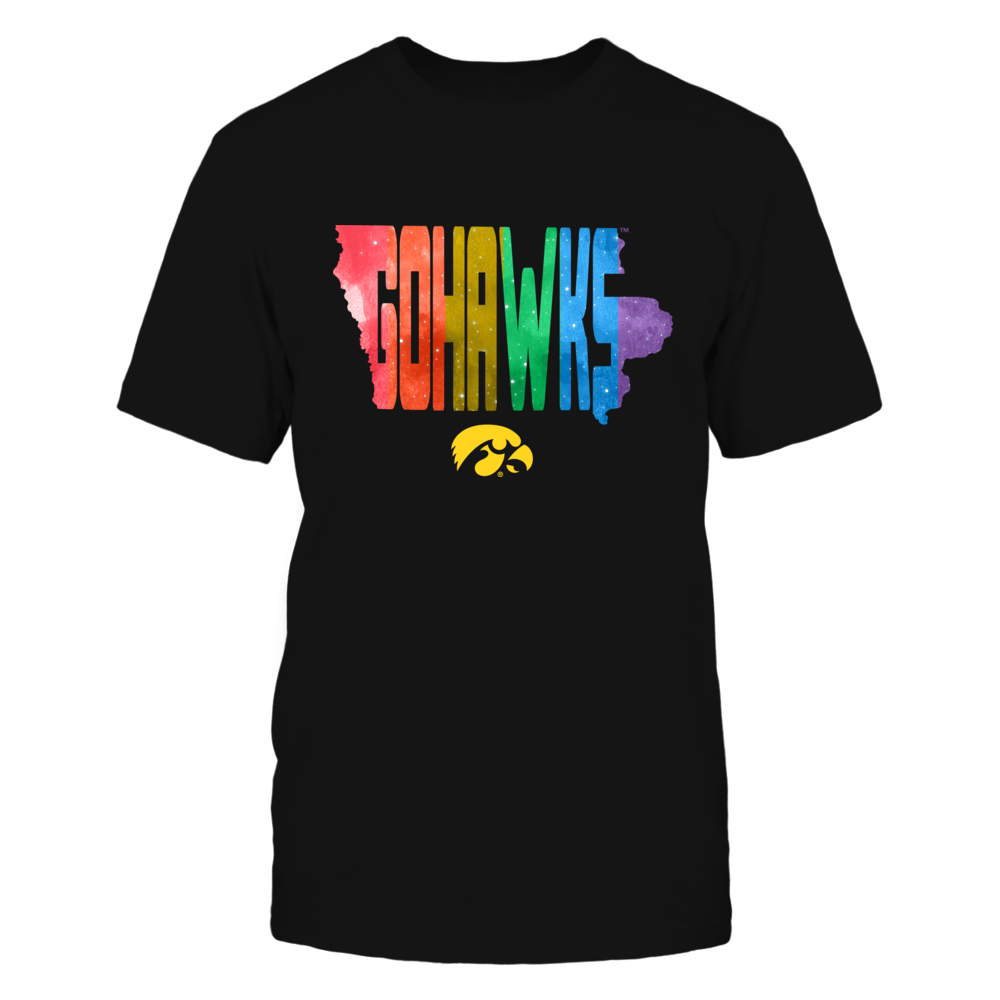 Iowa Hawkeyes - Pride Month - Slogan State Map Front picture