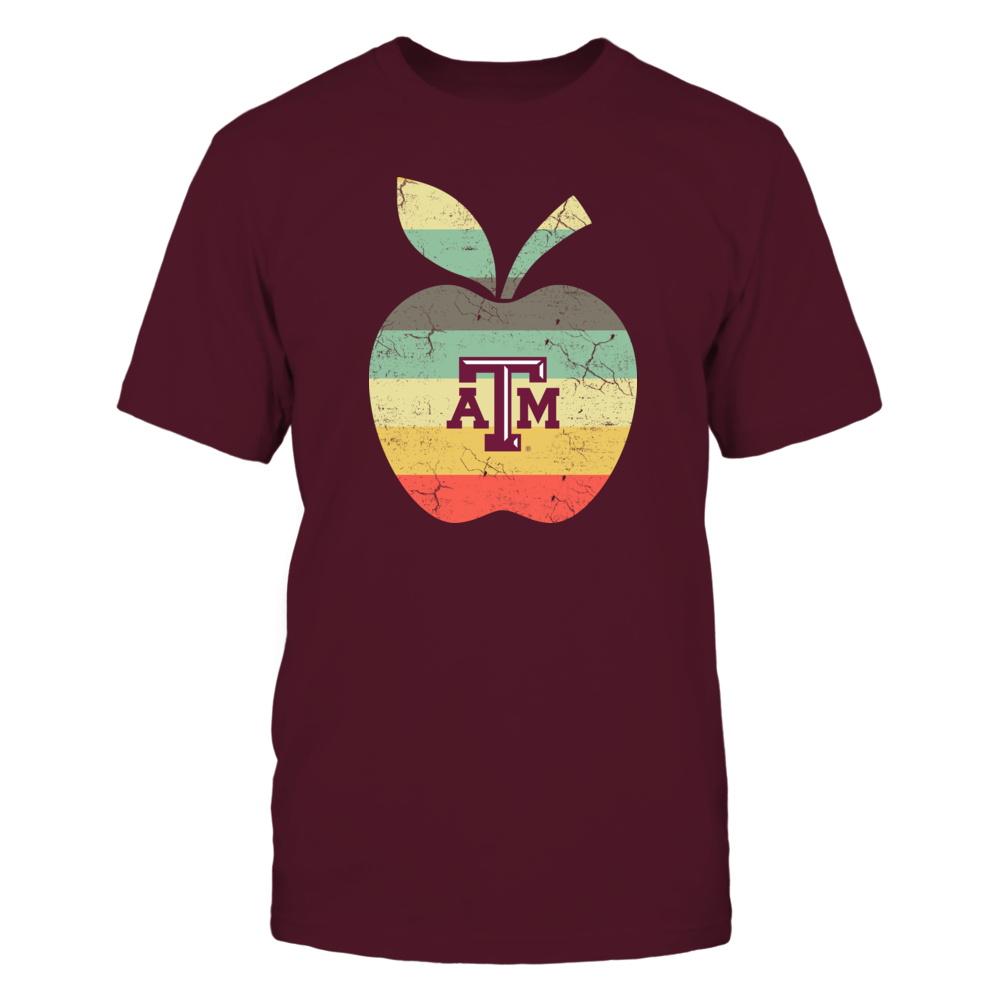 Texas A&M Aggies - Teacher - Apple Vintage Graphic - IF-IC13-DS45 Front picture