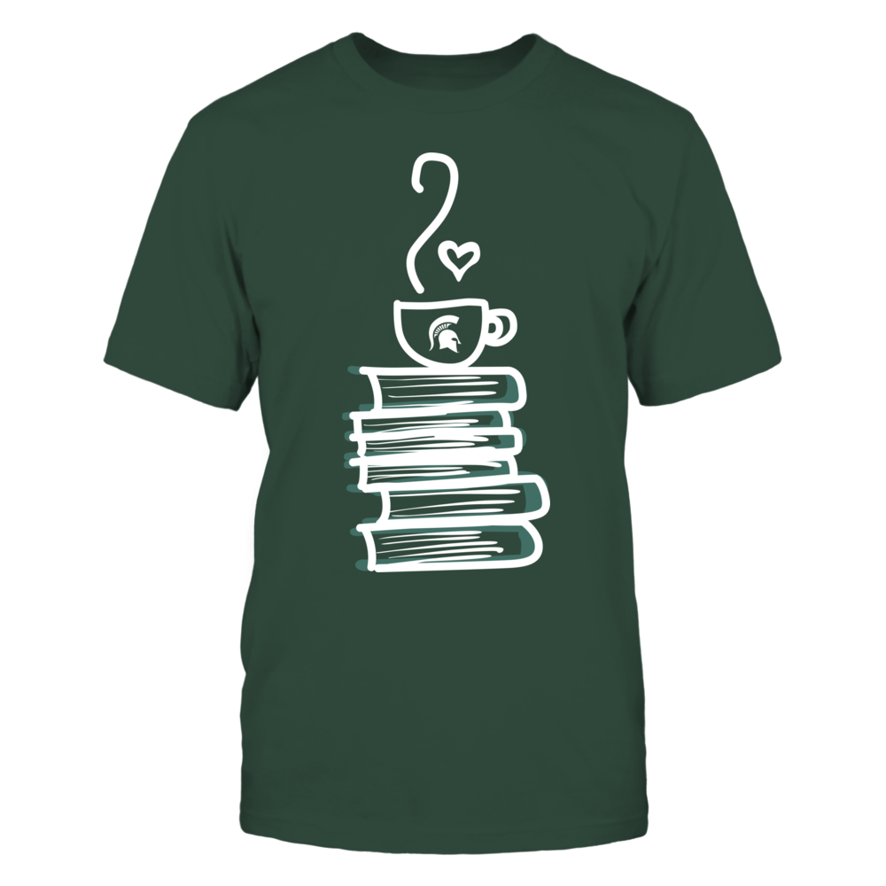 Michigan State Spartans - Drawing Books And Coffee Front picture
